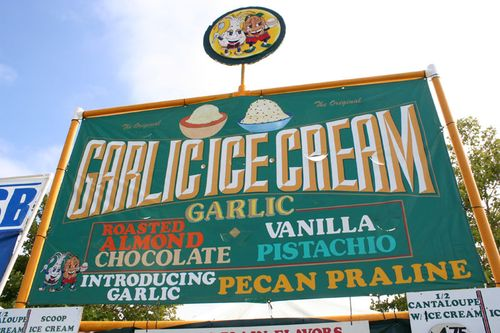 Not to be confused with the free samples of garlic vanilla ice-cream, ...
