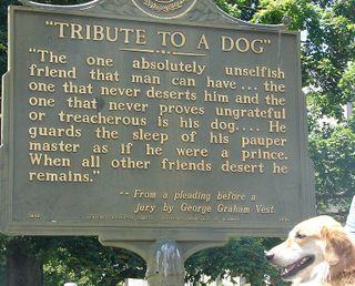 Vest DogTribute sign in Kentucky