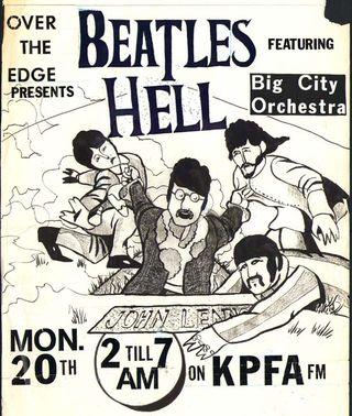 Beatles Hell on KPFA original art 1984