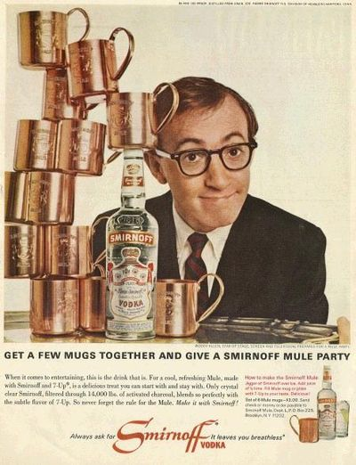 Woody allen vodka ad