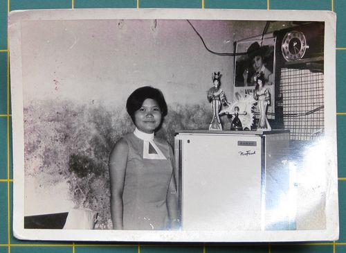 Woman with Refrigerator