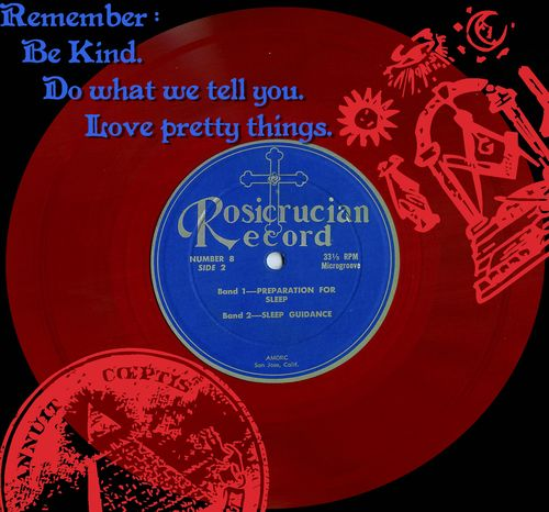 Rosicrucian Record on red vinyl