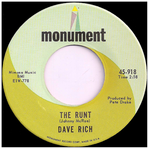 45rpm_monument_dave_rich_the_runt