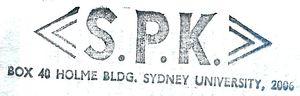 SPK rubber stamp impression 1982