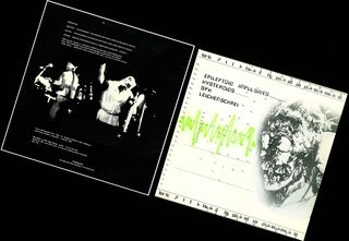 Leichenschrei lp - Thermidor edition front and back cover