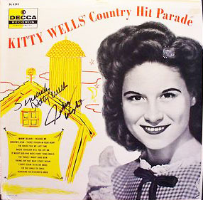 LP signed by Kitty and Johnny Wright