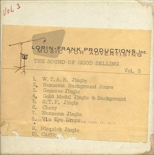 Lorin Frank Volume 3