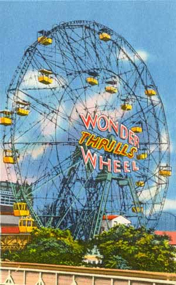 Wonder Wheel Postcard